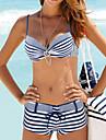 Dame Nailon Spandex Cu Susținere,Bikini Geometrică Cu Dungi