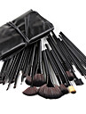 32pcs ensembles de brosses Poil Synthetique Pinceau en Nylon OEil Visage Levre