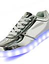 Unisex Pantofi Piele Primăvară Vară Toamnă Confortabili Tălpi cu Lumini Pantofi Usori Adidași Plimbare Toc Jos Vârf rotund Dantelă LED