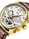 KINYUED Bărbați Ceas Elegant Ceas Schelet Ceas La Modă Ceas de Mână ceas mecanic Mecanism automatCalendar Cronograf Rezistent la Apă