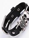 Bracelets en cuir - Cuir Crane Boheme, Punk, Rock Bracelet Noir Pour Regalos de Navidad / Soiree / Occasion speciale / Anniversaire / Fiancailles / Sports / Valentin