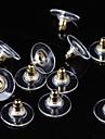 Pentru femei Închizătoare Cercel - Argilă, Placat Auriu De Bază Auriu / Argintiu Pentru Zilnic / Casual / 50buc
