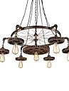 7 capete de epocă din lemn pandantiv de unelte de lumini loft creative industriale lampă stil american pentru baruri restaurant baruri de zi