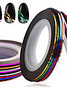 1set 10rolls Fashion Foil Stripping Tape Daily