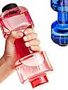 1st bekvämt personlig hantel kopp fitness vattenflaska plastmugg förseglad tät 550ml bekvämt för fitness sport flaska