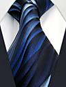 Masculin Geometric Toate Sezoanele Vintage Draguț Petrecere Birou Casual Mătase,Cravată Albastru piscină