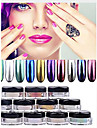 12 couleur poussiere de poudre de pigment en poudre miroir chrome or ultrafine ongles paillettes ongles paillettes clou decorations d\'art