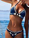 Pentru femei Împletituri Crochet Bikini Mată Halter Tanga Τρίγωνο