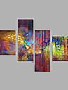 Hang-pictate pictură în ulei Pictat manual - Abstract Modern pânză
