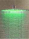 Moderne Douche pluie Chrome Fonctionnalite - LED, Pomme de douche