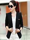 女性用 スーツ シャツカラー 水玉 / 波点 ストライプ, コットン