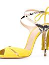 Damă Sandale Vară Toamnă Confortabili Noutăți Pantofi Club Piele de Oaie Nuntă Outdoor Rochie Casual Party & Seară Toc StilettoDantelă