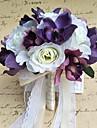 Flori de Nuntă Rotund Trandafiri Buchete Nuntă Petrecere / Seară Satin