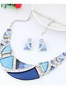 Pentru femei Geometric Set bijuterii - Modă, Euramerican Include Curcubeu / Verde / Albastru Pentru Petrecere / Zilnic