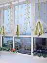 Sheer Curtains Shades Living Room Polyester Embroidery