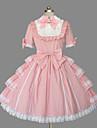 Πριγκίπισσα Γλυκιά Λολίτα Γυναικεία Κοριτσίστικα Φορέματα Cosplay Ροζ Βραδινή τουαλέτα Σκουφί Καμπάνα Κοντομάνικο Κοντό / Μίνι Μεγάλα Μεγέθη Προσαρμοσμένη Κοστούμια / Υψηλή Ελαστικότητα