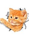 Animale Modă Desene Animate Perete Postituri Autocolante perete plane Autocolante de Perete Decorative Autocolante toaletă, Vinil Pagina