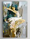 Hang målad oljemålning HANDMÅLAD - Människor Moderna Duk