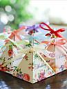 Rotund Pătrat Piramidă Hârtie cărți de masă Favor Holder cu Imprimare Cutii de Savoare Cutii de Cadouri