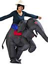 Elefant Cosplay Kostymer / Dräkter Vattentät Uppblåsbar kostym Halloween Rekvisita Film-cosplay Grå & Svart Trikå / Onesie Luftblåsare
