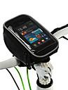 ROSWHEEL Väska till cykelstyret Mobilväska 5.0 tum Fuktighetsskyddad Vattentät dragkedja Bärbar Pekskärm Stötsäker Cykelsport för iPhone