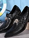 Bărbați Pantofi Nappa Leather Primăvară Toamnă Pantofi formale Oxfords pentru Casual Birou și carieră În aer liber Party & Seară Negru