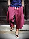 Bărbați Chinoiserie Talie Medie,Inelastic Larg Pantaloni Chinos Pantaloni Mată Primăvară Vară Toate Sezoanele