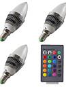 Youoklight 3pcs e14 3w 200-250lm ac85-265v 1 * mare putere led rgb dimmable controlate de la distanță lumini LED lumânare