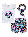 Fete Seturi Floral Imprimeu Bumbac Casul/Zilnic Elegant Sporturi Vară Pant scurt Set Îmbrăcăminte