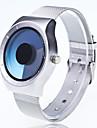 Bărbați Quartz Unic Creative ceas Ceas de Mână Chineză Mare Dial Metal Bandă Creative Casual Modă Argint