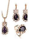 Pentru femei Inel Colier / cercei Seturi de bijuterii de mireasă Cristal Ștras Lux Ștrasuri Modă Ajustabile de Mireasă Elegant Nuntă