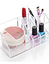 Textil Plast Oval Plast Resan Genomskinlig kolhållaren Hem Organisation, 1st Plast Skrivbordsorganiserare Makeupförvaring
