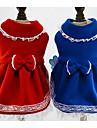 Câine Rochii / Crăciun Îmbrăcăminte Câini Prințesă Albastru Închis / Rosu Jos / Bumbac Costume Pentru animale de companie Pentru femei Casul / Zilnic / Modă