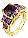 Pentru femei Zirconiu Cubic Inel de declarație / Inel - Plastic, Zirconiu, Placat Auriu Personalizat, Lux, Modă 6 / 7 / 8 Auriu / Roz auriu Pentru Cadouri de Crăciun / Petrecere / Ocazie specială