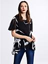 Pentru femei Rotund Mărime Plus Size Bluză Zilnic Ieșire Casual Manșon scurt Vară Poliester