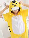 Kigurumi Pijamale Tigru Leotard/Onesie Festival/Sărbătoare Sleepwear Pentru Animale Halloween Galben Peteci Kigurumi Pentru Unisex