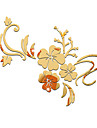 Desene Animate Oglinzi Florale Perete Postituri 3D Acțibilduri de Perete Acțibilduri de Oglindă Autocolante de Perete Decorative,Teracotă