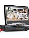"Sannce® 10.1 ""lcd 4ch ahd 720p hd analogique ahd tvi ip cameras 4in1 video de surveillance de reseau CCTV avec 1tb hdd"