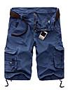 Bărbați Larg Simplu Activ Talie Medie,Micro-elastic Pantaloni Chinos Pantaloni Sport Pantaloni Dungi Peteci Bloc de Culoare