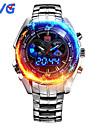 Bărbați Ceas Sport Ceas La Modă Ceas de Mână Japoneză Quartz LED Calendar Rezistent la Apă Zone Duale de Timp alarmă Iluminat Oțel