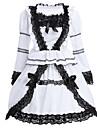 لوليتا كلاسيكية وتقليدية لوليتا نسائي فساتين تأثيري أبيض كم طويل قصيرة ازياء