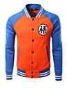 Bărbați Rotund Jachetă Ieșire Sporturi Șic Stradă Activ,Bloc Culoare Manșon Lung vară toamnă-Regular Others