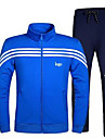 Ανδρικά Μαύρο Σκούρο μπλε Αθλητισμός Φόρμα Τρέξιμο Μακρυμάνικο Ρούχα Γυμναστικής Αντιανεμικό