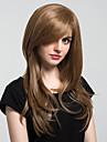 Syntetiskt hår peruker Naturligt vågigt Utan lock Naturlig peruk Lång Brun