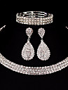 Pentru femei Seturi de bijuterii Ștras Clasic De Bază DIY Nuntă Petrecere Ocazie specială Zi de Naștere Logodnă Cadouri de Crăciun Aliaj