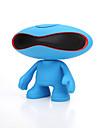 Mini Portabil Lumină LED FM suport Bluetooth 3.0 3.5mm AUX  boxe Bluetooth wireless Albastru Deschis