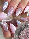1pc Pailletter / Glitter Powder / Nail Glitter Elegant & Luksuriøs / Glitrende Nail Art Design