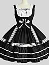Gotisk Lolita Prinsessa Dam Tonåring Flickor jsk / Jumper Kjol Cosplay Ärmlös Knälång