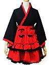 Πριγκίπισσα Wa Lolita Γυναικεία Κοριτσίστικα Κιμονό Cosplay Κόκκινο Βραδινή τουαλέτα Σκουφί Μακρυμάνικο Κοντό / Μίνι Μεγάλα Μεγέθη Προσαρμοσμένη Κοστούμια
