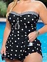 Pentru femei Cu Bretele,Tankini Costume de Baie Talie Înaltă Albastru piscină Negru